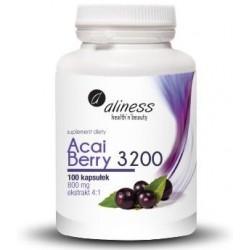Acai Berry 3200 z acerolą i chromem Aliness x 100 kaps.