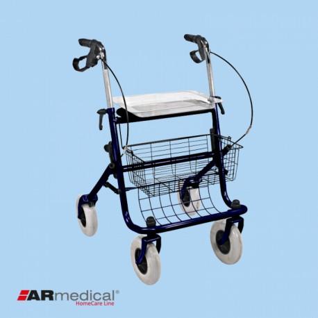 Podpórka rehabilitacyjna 4-kołowa, stalowa. CLASSIC