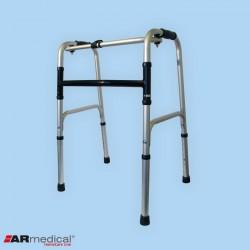 Balkonik aluminiowy składany, krocząco-stały. Pojedyncza rama H
