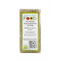 Ryż brązowy długi bezglutenowy BIO 400g Denver Food