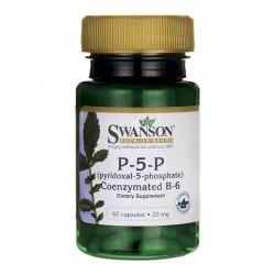 Swanson Witamina B-6 20mg (P-5-P)  x 60 kaps