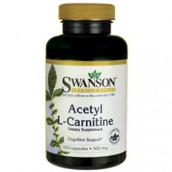 Swanson Acetyl L-Karnityny 500mg x 100 kaps.