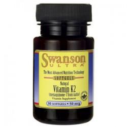 Swanson Witamina K2 naturalna 50mcg x 30 kaps.