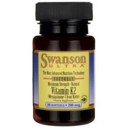 Swanson Witamina K2 naturalna 200mcg x 30 kaps.