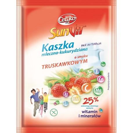 Kaszka mleczno-kukurydziana truskawkowa SunVit bezglutenowa Celiko 50g