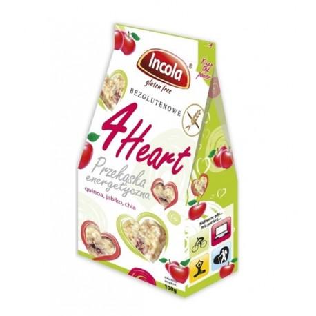 4Heart Przekąska energetyczna bezglutenowa - quinoa, jabłko, chia 100g - Incola
