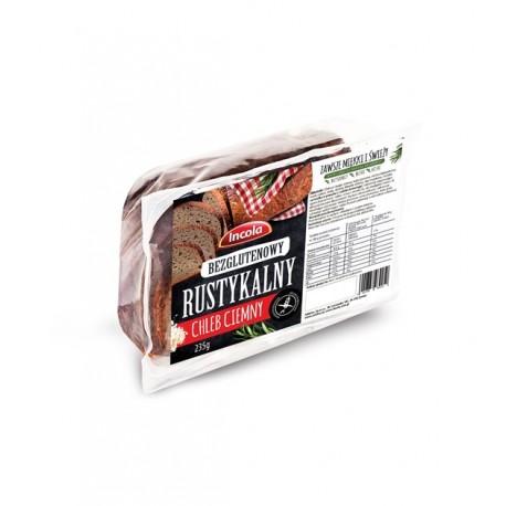 Chleb bezglutenowy rustykalny ciemny 235g - Incola