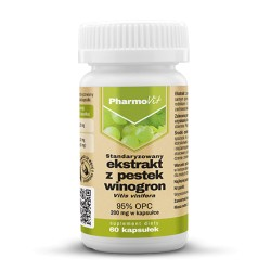 Pharmovit Ekstrakt z pestek winogron 95% OPC, 200mg  x 60 kapsułek