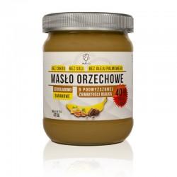 Masło orzechowe o smaku czekoladowo bananowym o podwyższonej zawartości białka 470g natura