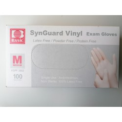 Rękawiczki jednorazowe winylowe SynGuard Vinyl Basic M 100szt.