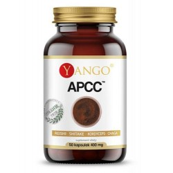 APCC™ reishi, kordyceps, shitake, chaga x 50 kaps.. YANGO