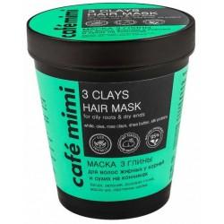 Cafe Mimi Maska do włosów 3 glinki 220ml