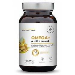Omega + Witamina D3 + Czosnek 60 kaps AURA HERBALS
