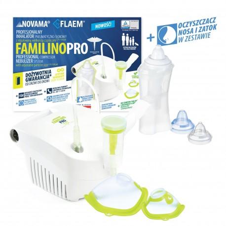 Inhalator Familino Pro by Flaem dolnych i górnych dróg oddechowych z dożywotnią gwarancją
