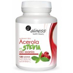 Acerola ze Stevią naturalna winamina C do ssania Aliness x 120 tabletek