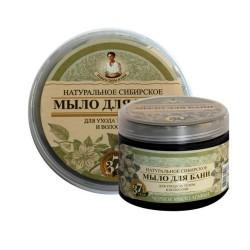 Bania Agafii -  Mydło ziołowe naturalne czarne ciała i włosów 500 ml