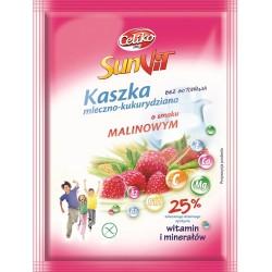 Kaszka mleczno-kukurydziana malinowa SunVit bezglutenowa Celiko 50g
