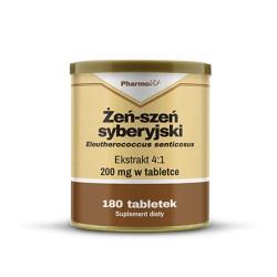 Pharmovit Żeń-szeń syberyjski ekstrakt 4:1 200mg 180 tabletek