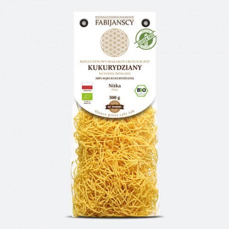 Makaron kukurydziany nitka BIO 300g-Fabijański