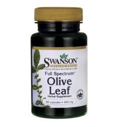 Swanson Olive Leaf Full Spectrum - Liść Oliwny 60 kaps.