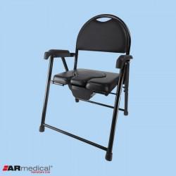 Krzesło toaletowe tapicerowane – składane ARmedical