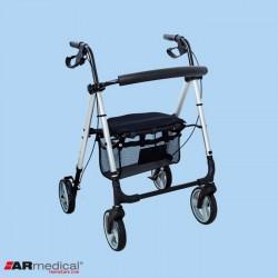 Podpórka rehabilitacyjna 4-kołowa, aluminiowa PRESTIGE