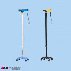 Laska inwalidzka aluminiowa – czwórnóg niski z miękkim uchwytem