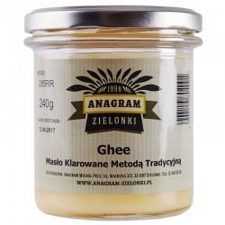 Masło Ghee - Masło Klarowane Metodą Tradycyjną Ekogram 240g