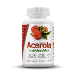 Acerola 25% witaminy C - 90 tabletek
