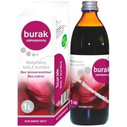 Sok z Buraka naturalny - Burak zakwaszony 1000 ml Donum Naturea