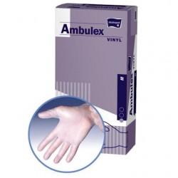 Rękawice niejałowe winylowe AMBULEX VINYL niepudrowane XS, 100szt