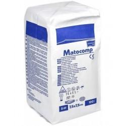 Kompresy z gazy Matocomp, niejałowe 13-nitkowe, 8-warstwowe, 7,5 x 7,5 cm 100 szt.