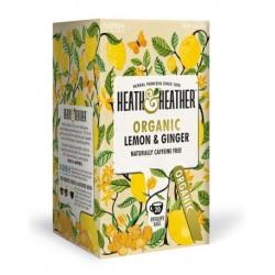 Herbata ekologiczna Lemon & Ginger Heath & Heather 30g (20 saszetek)