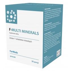 F-MULTI MINERALS kompleksowa kompozycja 11 składników mineralnych 30 porcji