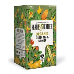 Herbata ekologiczna Green Tea & Ginger Heath & Heather 40 g (20 saszetek)