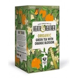 Herbata ekologiczna Green Tea Orange Blossom Heath & Heather 40 g (20 saszetek)