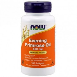 OLEJ Z WIESIOŁKA EVENING PRIMROSE OIL 100 KAPS. 500mg NOW Foods