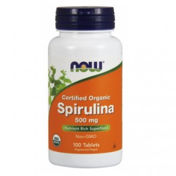 SPIRULINA 500mg x 100 TABLETEK  NOW Foods