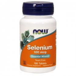 SELENIUM 100 mcg x 100 TABL.  NOW Foods