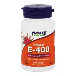 WITAMINA E-400 MIXED TOCOPHEROLS x 50 KAPS. NOW Foods