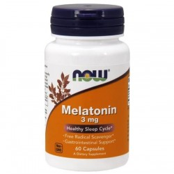 MELATONINA MELATONIN 3mg x 60 KAPSUŁEK  NOW Foods