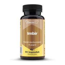 Pharmovit Imbir standaryzowany 5% gingeroli , ekstrakt 400mg  x 90 kapsułek