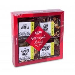 Zestaw Świąteczny 4 herbat owocowych , 4x40g NATJUN