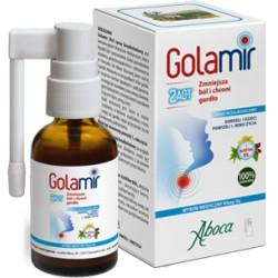 Golamir 2Act spray do gardła bezalkoholowy dla dorosłych i dzieci  Aboca