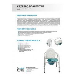 Krzesło toaletow z regulowaną wysokością JL810 MEDICAL CARE