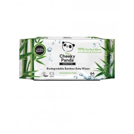 Nawilżane chusteczki bambusowe dla dzieci x 64 szt. CHEEKY PANDA