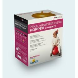 Piłka rehabilitacyjna HOPPER z rogami 50 cm ŻÓŁTA   Pompka  GRATIS!