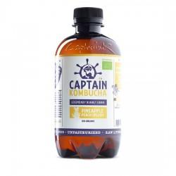 Captain Kombucha - ananas + brzoskwinia - napój BIO 400 ml