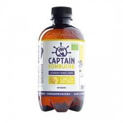 Captain Kombucha - cytryna i imbir - napój BIO 400 ml