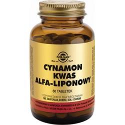 Solgar Cynamon i Kwas alfa-liponowy x 60 tabletek